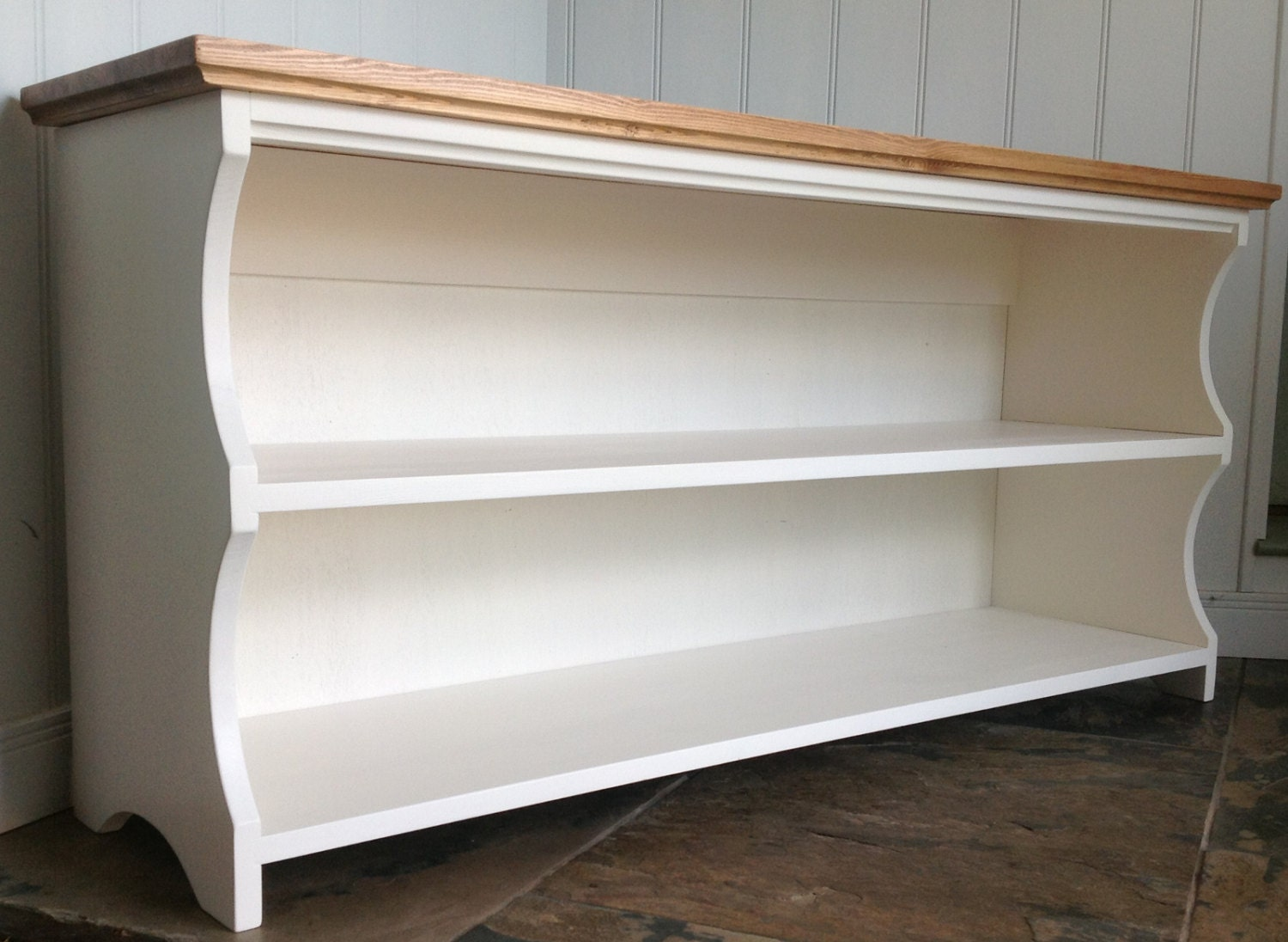 Hall Shoe Bench And Shoe Rack With Storage Shelves In Antique