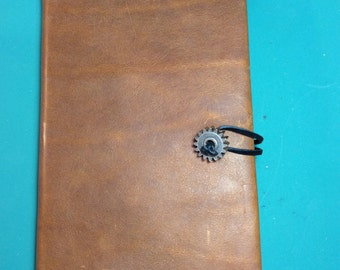 Re-useable Steampunk Leather Covered Sketchbook/Journal