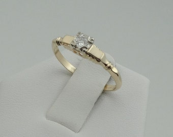 Vintage 1930's Diamond 14K Gold Promise Ring #YG30DB6-B1
