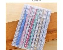 Set of 10 colors Big Hero BayMax print pattern 0.35mm point Gel pens fine point Gel Ink Pens Colorful Gel Ink Pen L8