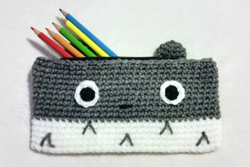 Totoro Pencil Case Crochet Pencil Case Crochet Pencil Pouch