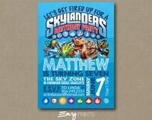 Skylanders Birthday Invitation / Skylanders Trap Team Invitation / Skylanders Party /Skylanders Printable Invite