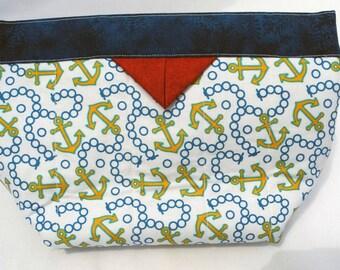 Nautical Snap Bag