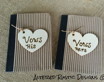 Wedding vows books~ his and hers/ wedding vows/ weddings/ vows/ his and hers vows books/ wedding accessory/ bride and groom wedding vow book