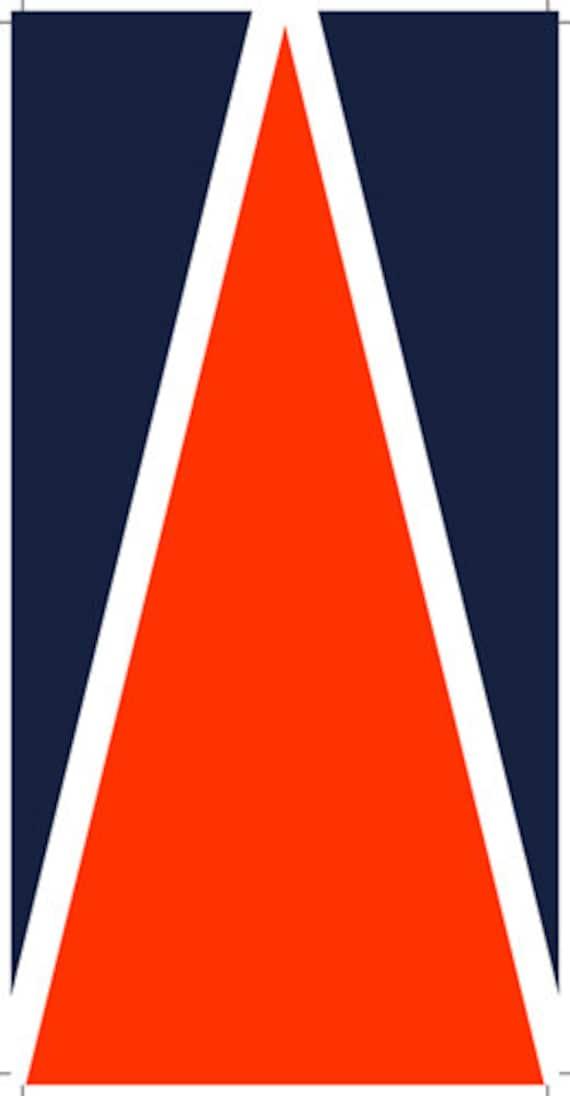 Navy Blue u0026 Orange (Auburn) Cornhole Board Prints / Wraps : Corn Hole ...