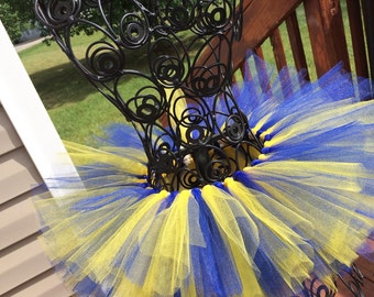 TuTu Cute. Blue and Gold Tutu. Any Two color combinations: NCA&T Aggies UMICH  WVU Tutu. Customize yours today