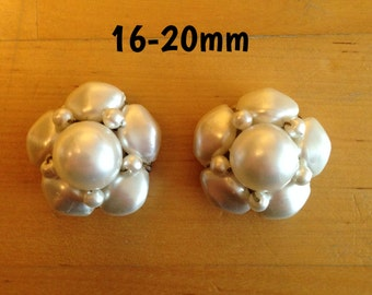 16mm-18mm-20mm faux pearl bead cluster plugs for stretched ears *vintage*