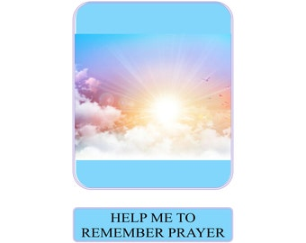 Help Me to Remember Prayer Card