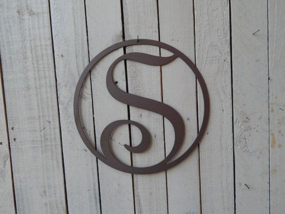 18 monogram front door circle last name initial by evyanndesigns. Black Bedroom Furniture Sets. Home Design Ideas