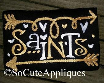 Embroidery design 5x7 Saints football, arrow embroidery, embroidery saying, football sister embroidery, socuteappliques, Saints