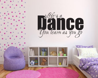 Life's a Dance - Wall sticker - Dance - Vinyl Decal