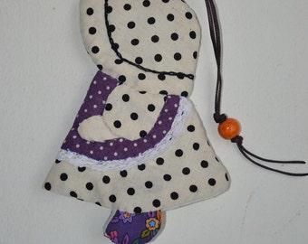 "Handmade Sun Bonnet Sue Cotton key Cover,4 x 5.5"""