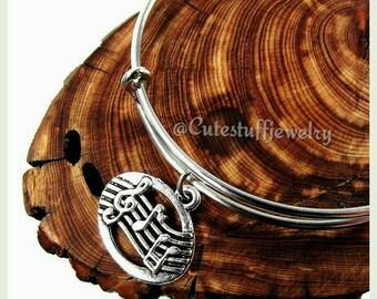 Music Notes Bracelet, Music Notes Bangle, Musician Bracelet, Music Bangle Bracelet, Handmade Bangle Bracelet, Gift Music Jewelry, Boho