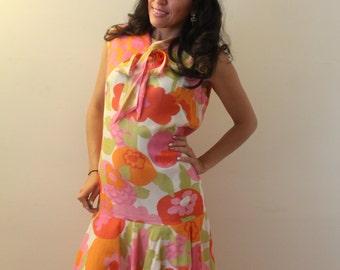 Zalento Flower 1960s Dress