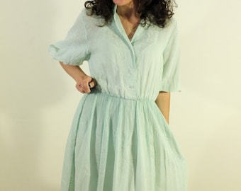 Sheer little 1940s Blue Day Dress