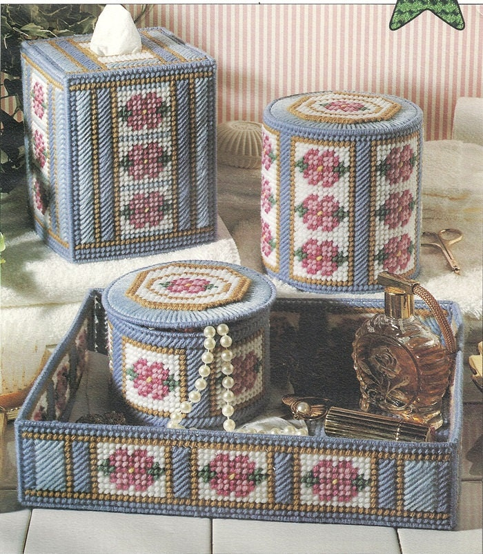 Bathroom Tissue Covers Box Tray Plastic Canvas Pattern