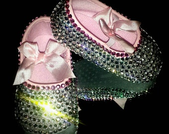 Bedazzled Bling Baby Shoes - Bows