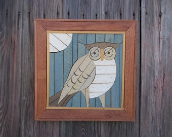 Theodore Degroot Owl Lath Art Austin Productions, Lath Art, Folk Art, Vintage, Wooden Art, Owl, Home Decor,Wall Decor, Rustic, ArteryArsenal