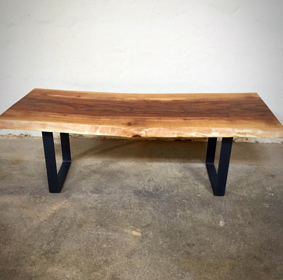 Live Edge Coffee Table Black Walnut: Live Edge Walnut Slab Coffee Table