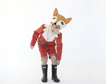Halloween boys fox costume, kids fox costume, Boys fox costume, kids boys costume, toddler costume, Halloween costume