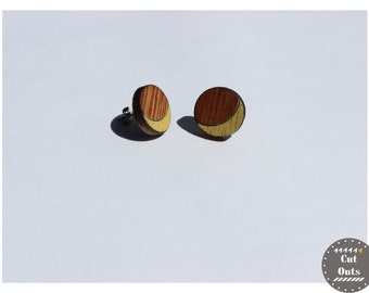 Geometric earrings. Half-moons.