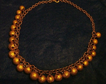 Vintage Brass Ball Necklace