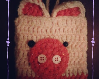 Crochet Pig Phone Case