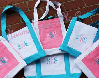 Brides Bag- Monogram  Bride Tote Bag- Personalized Tote Bag - Personalized Overnight Bag- Monogrammed Bridesmaid Bag- Sorority Gift Bag