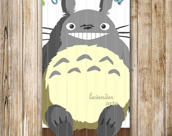 Totoro Birthday Party Invitation, Blue Totoro Party Invite, Digital Boy Birthday Invitation, Ghibli Totoro Birthday Invite, My Neighbor