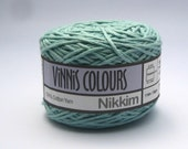 Set of 2 x 50g double knit balls - Vinnis Colours, 100% cotton yarn, hand dyed - Blue Canard