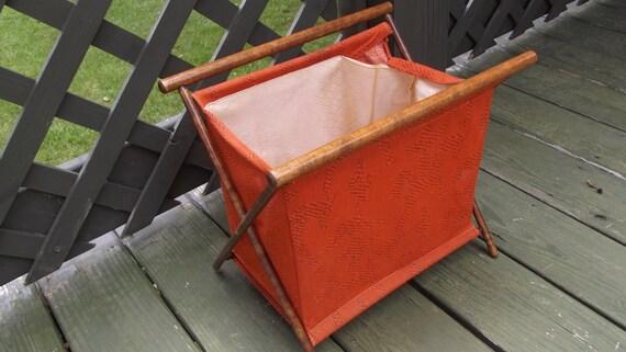 Vintage Folding Knitting Basket : Vintage folding sewing basket by sistersvintageattic