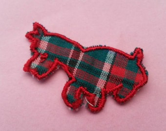 1 Red DOG Applique Sew On Animal Patch