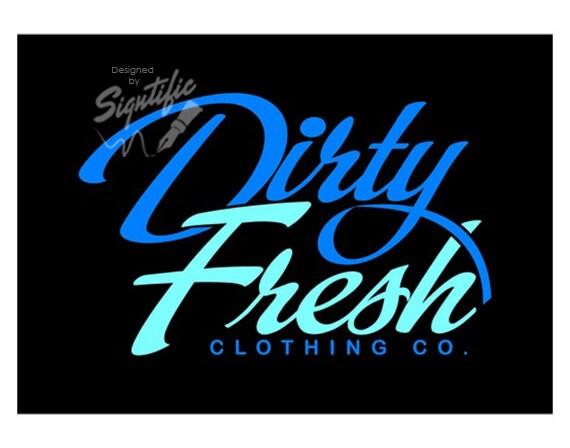 custom clothing logo clothing line logo design blue and