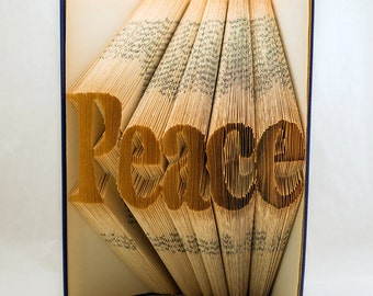 Custom 5 letter word folded book art-Peace-Personalized unique Gift-Book origami-made to order-Five letter - E86