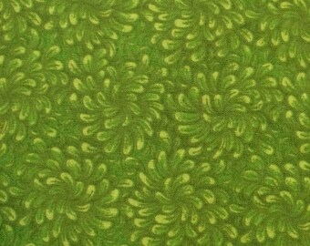 Green petals fat quarter