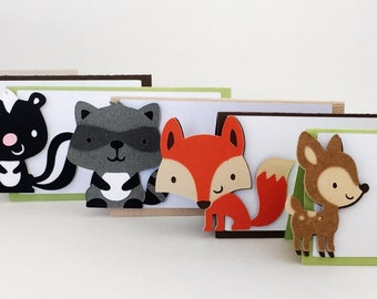 Woodland Creatures - Woodland Party - Woodland Critters - Woodland Place Cards - Woodland Forest Animals