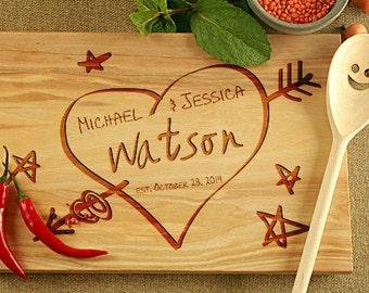 Cutting Board, Wedding Gift idea, Custom Cutting Board, Wedding Gift for couple, Personalized cutting board, Engraved Cutting Board