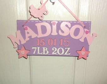 Baby birth plaques