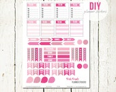 DIY Planner Stickers | PDF Stickers Download suitable for Erin Condren, Plumpaper Weekly Planners