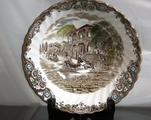 Vintage Vegetable Bowl, Johnson Brothers Heritage Hall, With Some Crazing