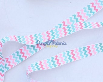 "Chevron ribbon, glitter ribbon,  7/8"" ribbon, grosgrain ribbon, 7/8"" ribbon, printed grosgrain, spring chevron, love grows here"