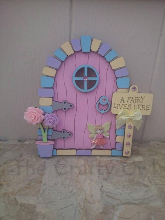 3d fairy door princess hand painted make believe by for Painted fairy doors
