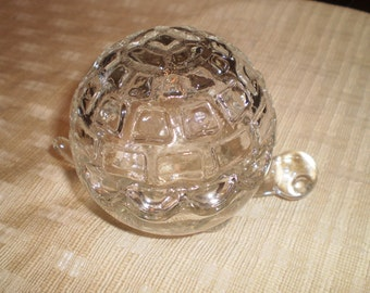 Vintage Anchor Hocking Glass Turtle