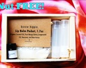 Nut FREE! ORANGE bizzie hippie DIY Lippie Kit, 7ct. Lip Balm. All natural. Fun project! All Natural. Beauty. Style. Good vibes. Happy lips.