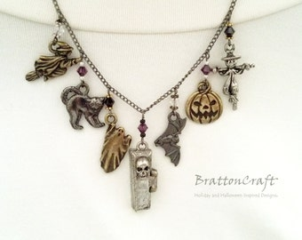 Custom Halloween Charm Necklace