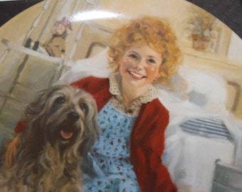 Annie & Sandy #1 Collector's Plate, 1st Ed., 1982, Bradford Exchange, Edwin M. Knowles, Original Box w Paper of Authenticity, Collectible