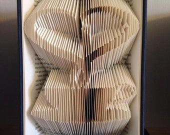Book folding pattern for a  Heart Steaming cup of Tea/Coffee! +FREE TUTORIAL