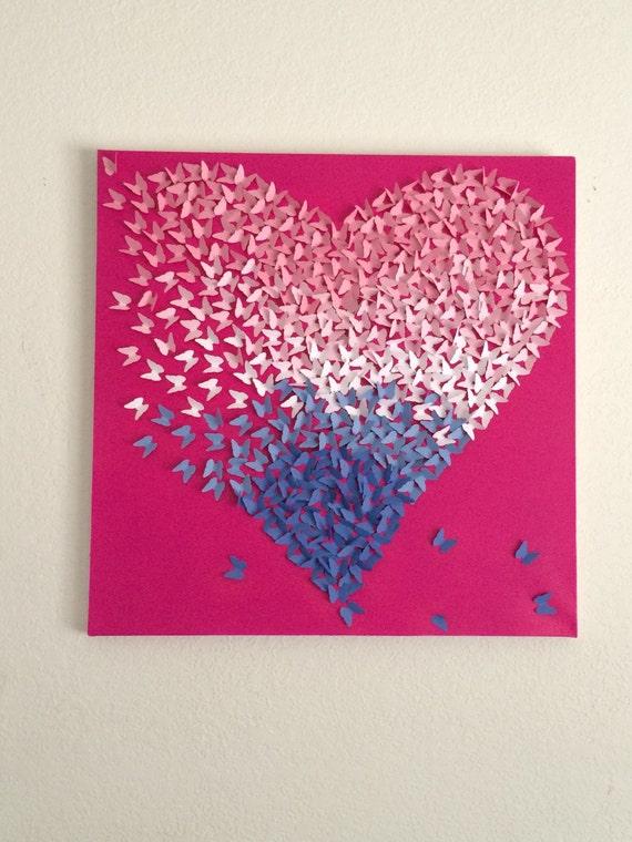 rosa wei blau ombre auf rasberry gemalt leinwand. Black Bedroom Furniture Sets. Home Design Ideas