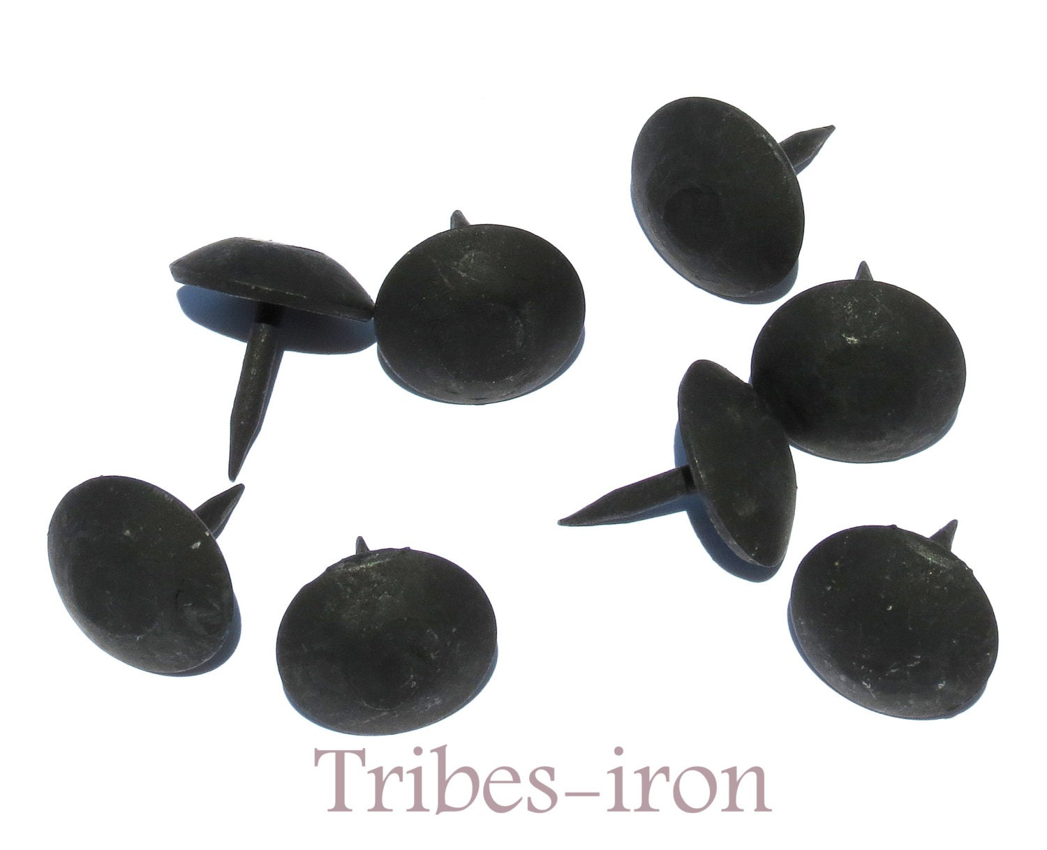 Decorative Nail Heads Lot Of 40 Black Nails Round 1 Head Decorative Clavos Wrought Iron