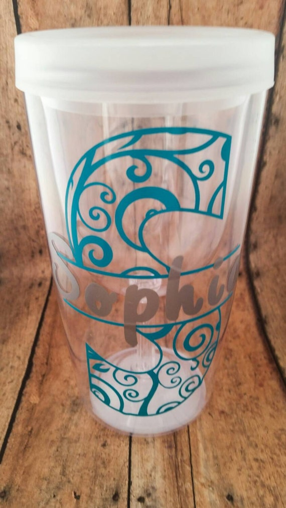 Monogrammed Wine To Go Cup Wine Tumbler Acrylic Wine
